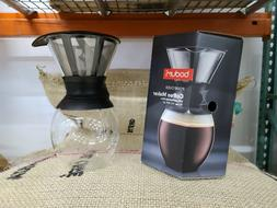 BODUM 11571-01 Pour Over Coffee Maker with Permanent Filter