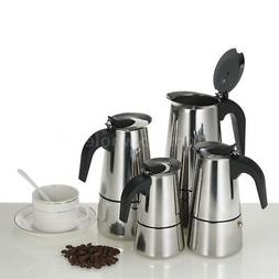 2/4/6/9Cup Stainless Steel Espresso Percolator Coffee Maker