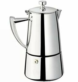 Cuisinox Roma 10-cup Stainless Steel Stovetop Moka Espresso
