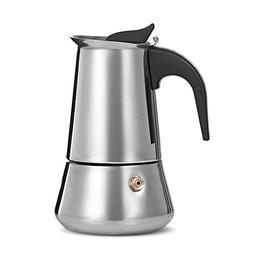 Coffee Maker 9 Cup Stainless Steel with Safety Relief Valve,