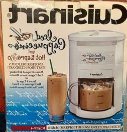 Cuisinart Espresso Iced Cappuccino Maker 4-Cup Cold or 8-Cup