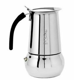 Bialetti Kitty Stainless Steel Coffee Maker, 6 cups