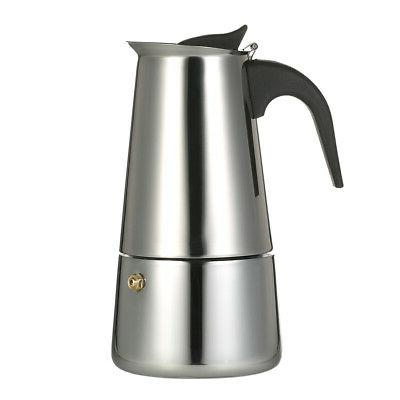 100ml 2 cup stainless steel espresso percolator