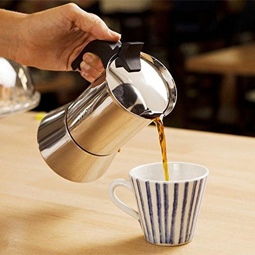 Bialetti Espresso Coffee 6-Cup, Stainless Steel