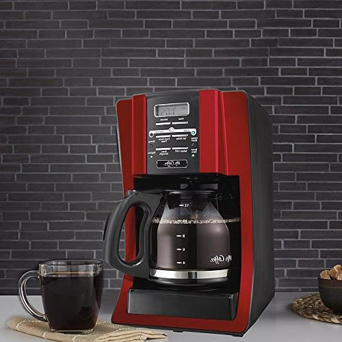 Mr. Coffee 12 Programmable Modern Chrome Front