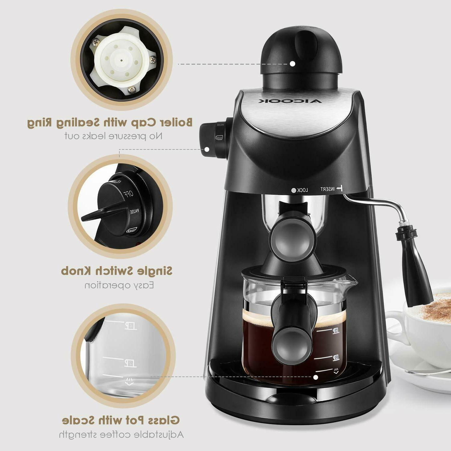 Home Espresso Expresso Latte Coffee Steam Frothing
