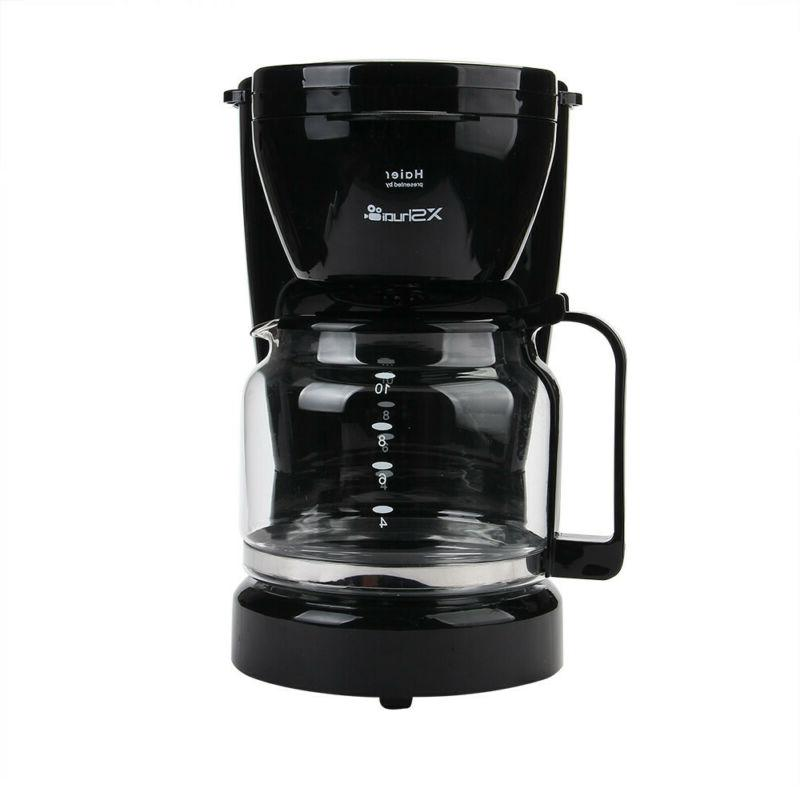 Home Electric Coffee Maker Espresso 10-Cup with Glass