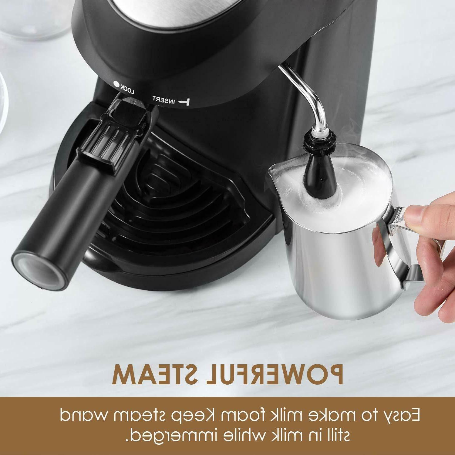 Home Espresso Expresso Coffee Steam Frothing NEW