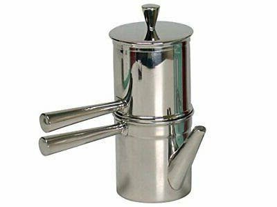 neapolitan coffee maker stainless steel silver color