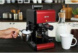 Mr. Coffee BVMC-ECM270R Steam Espresso Maker, Red