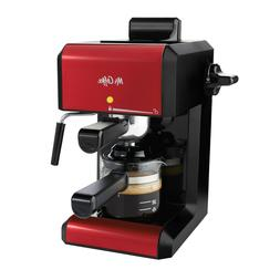 Mr. Coffee BVMC-ECM270R Steam Espresso Maker - Red