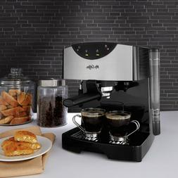NEW Mr. Coffee 2 Shot Pump Espresso And Cappuccino Maker. B