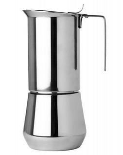 Ilsa Stainless Steel 6 Cup Stovetop Espresso Maker for Stove
