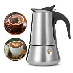 Stainless Steel Stovetop Moka Espresso Coffee Maker Perculat
